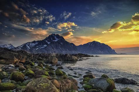 scandinavian wallpaper sea sky arctic scandinavia lofoten islands