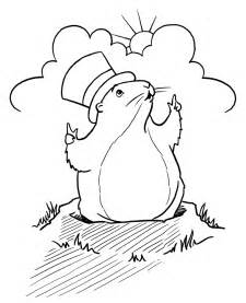groundhog coloring pages groundhog day children s stories poems carolyn s
