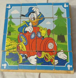 disney mickey mouse clubhouse wooden cube puzzle melissa