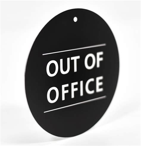Out Of Office Sign by Engraved Out Of Office Sign Hanging Laser Engraved
