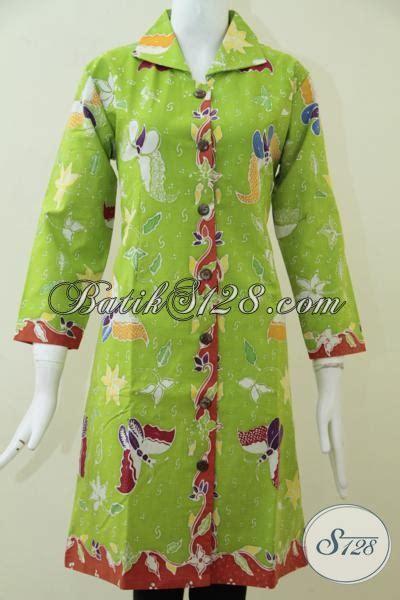 Kerudung Untuk Baju Warna Biru Muda blus batik modern warna hijau muda untuk wanita terlihat lebih segar dan feminim baju batik