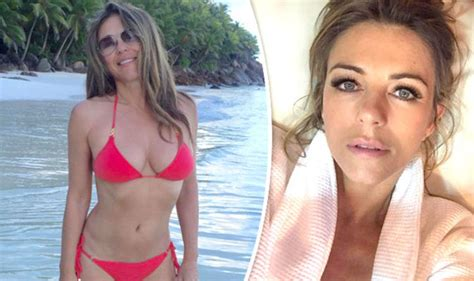 Gets Exposed by Elizabeth Hurley 52 Exposes Pert Bottom As She Strips