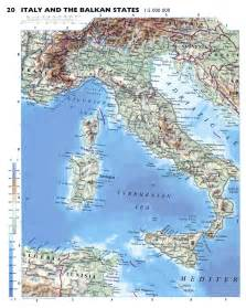 Detailed Map Of Italy by Large Detailed Physical Map Of Italy With Roads And Major