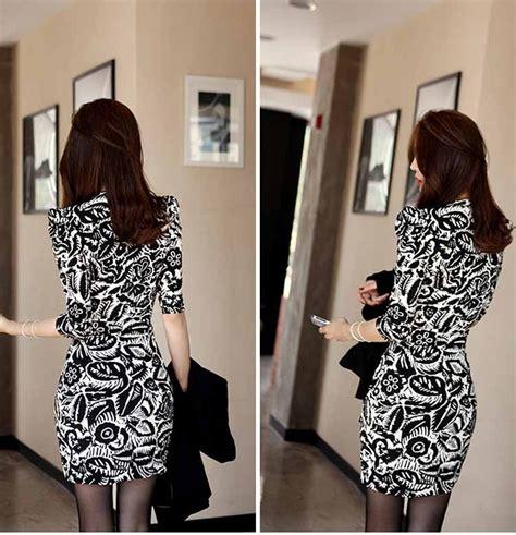 Dress Hitam Bunga jual dress motif bunga hitam putih 2016 di lapak