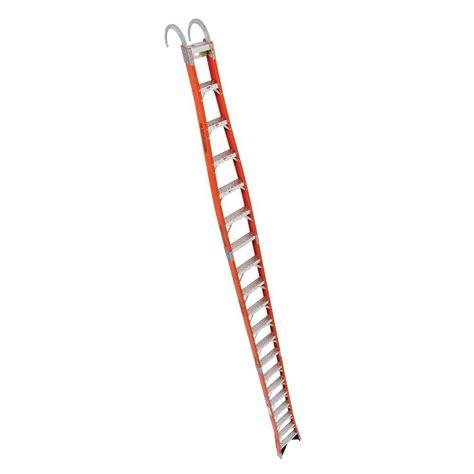 werner 20 ft fiberglass tapered posting extension ladder