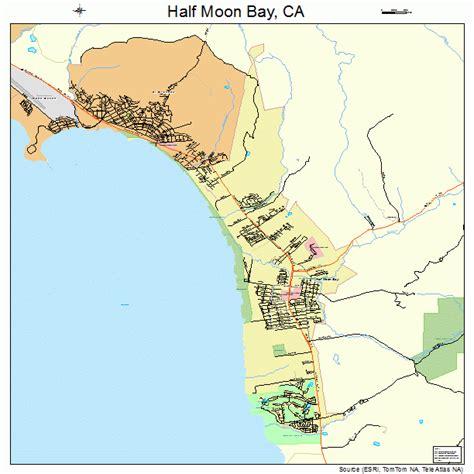 map of bay california half moon bay california map 0631708