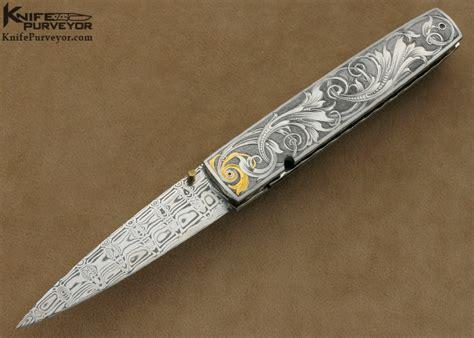 Kelly Carlson Custom Knife Tim George Engraved Icicle Linerlock   kelly carlson tim george engraved linerlock