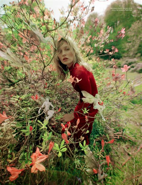 Send Flowers To Kate Moss And Feature In A V Magazine Shoot by Matilda Lowther The Dilettante In Fur
