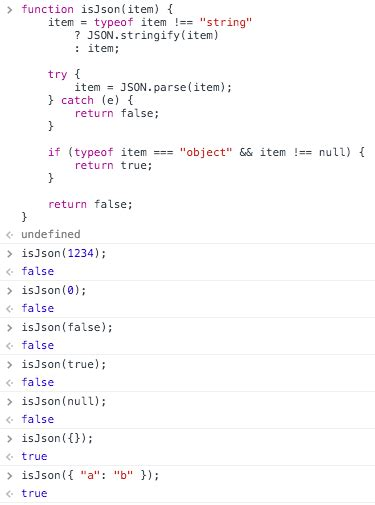 quiz questions json javascript how to test if a string is json or not