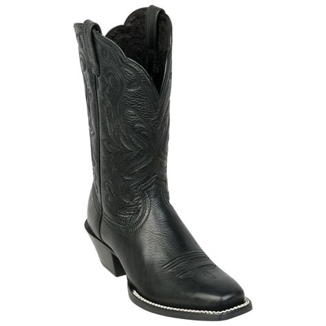 womans black boots s ariat 174 11 quot legend western boots black deertan