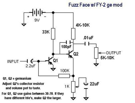 germanium transistor bias germanium transistor biasing 28 images e s v fuzz germanium version build your own clone