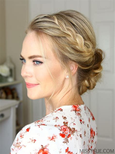 Updo Braid Hairstyles by 25 Best Ideas About Braided Updo On Easy
