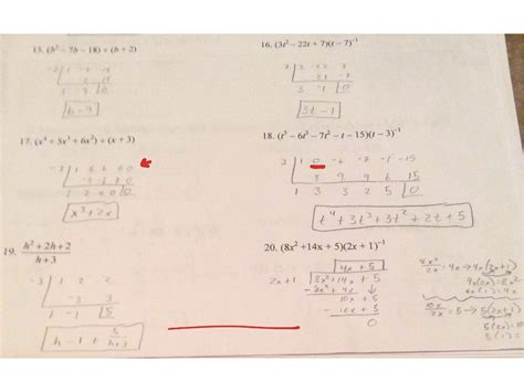 Division And Synthetic Division Worksheet by Synthetic Division Worksheet Worksheets