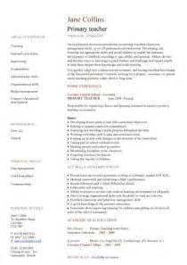 primary teacher cv sample teaching classroom
