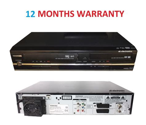 toshiba dvr18dt dvd vhs recorder vcr divx combo all in one