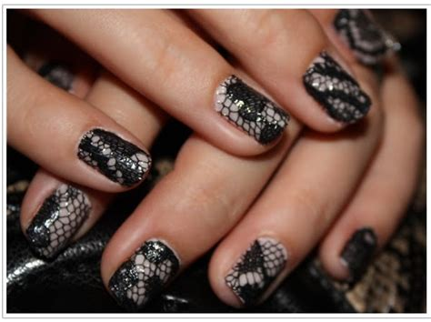 lace pattern nails lace nail art designs