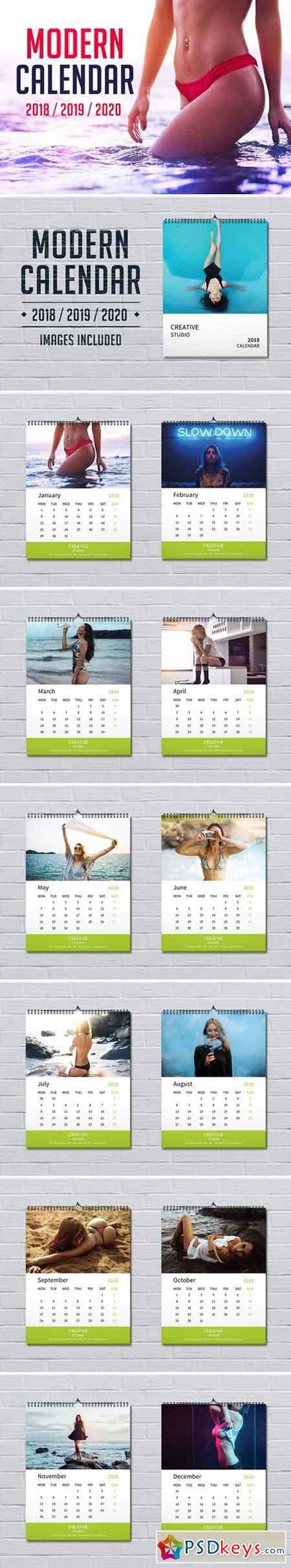 Calendar 2018 Indd Indesign 187 Page 2 187 Free Photoshop Vector Stock
