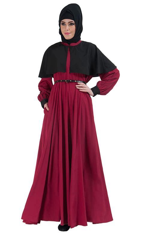 Cape Arab Vs two tone belted cape abaya
