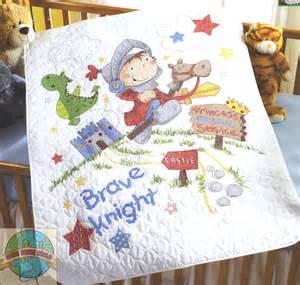 cross stitch kit plaid bucilla brave crib cover