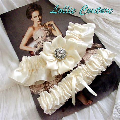Handmade Garters - vintage style ivory handmade wedding garters