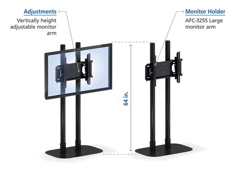 Bracket Tv Floor Stand modern universal tv stand with mount afcindustries