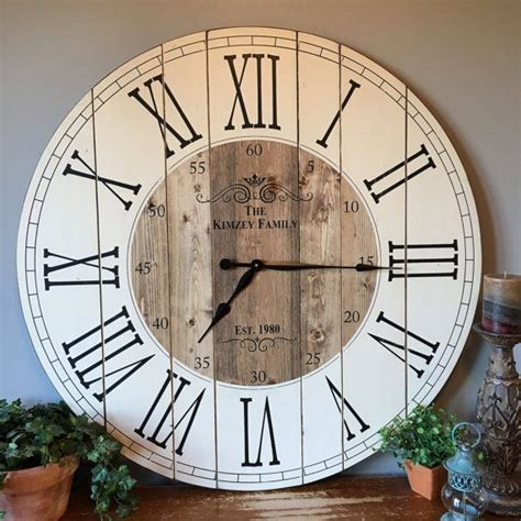 numeral design wall clock large from cbk home 4 ft wall clock home ideas