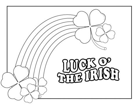 irish coloring book pages irish coloring pages