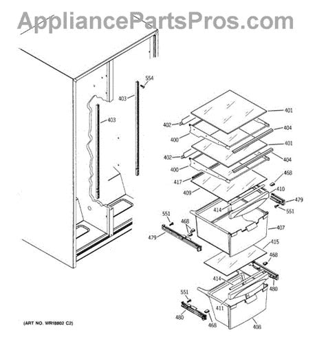 ge fridge drawer parts ge wr72x239 refrigerator drawer slide rail