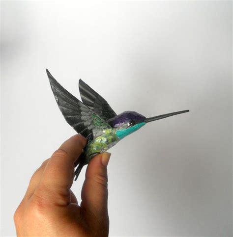 Make Paper Mache Birds - hummingbird ar paper mache bird sculpture ornament