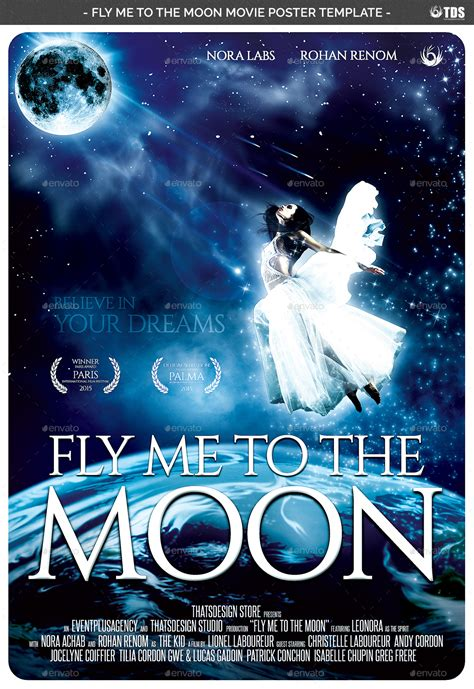 fly    moon  poster template  lou