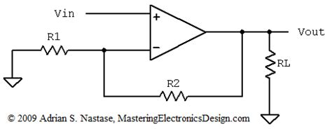 load resistor op the non inverting lifier output resistance mastering electronics design