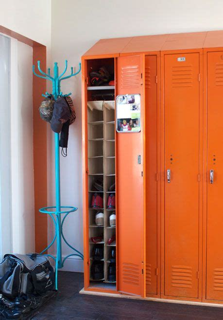 boys bedroom locker old lockers reused for storage boys room ideas pinterest
