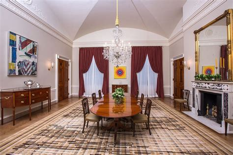 State Dining Room Makeover The White House Family Dining Room Makeover Popsugar Home