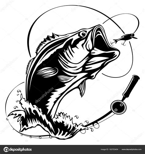 bass clip bass fish vector www pixshark images galleries
