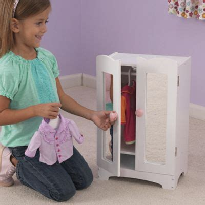 kidkraft doll armoire doll armoire wood doll furniture from one step ahead 31942