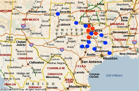 universities in texas map colleges and universities december 2011