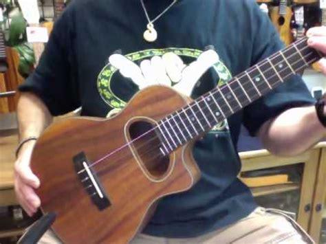 lessons jazz ukulele swing 56 gypsy jazz d hole koa tenor ukulele youtube