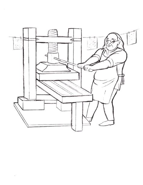 benjamin franklin inventions coloring coloring pages