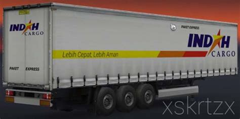 indonesia trailer indah cargo indonesia logistics trailer skin ets2planet