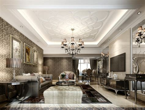 luxury modern living room interior design of haynes house luxury living room with plasma tv 3d model cgtrader