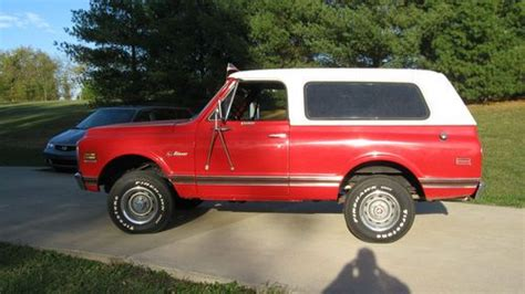 how to work on cars 1995 chevrolet k5 blazer electronic valve timing find used 1972 red chevy k5 blazer excellant condition stock setup in louisville kentucky