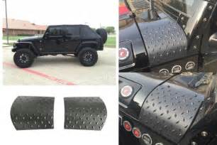 2007 2017 jeep wrangler pair black plate cowl