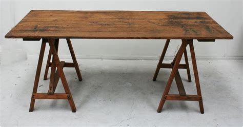 Lyon Home Design Studio by French 19th Century Studio Trestle Worktable Haunt