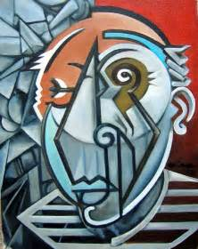 picasso big art picasso bust painting by martel chapman