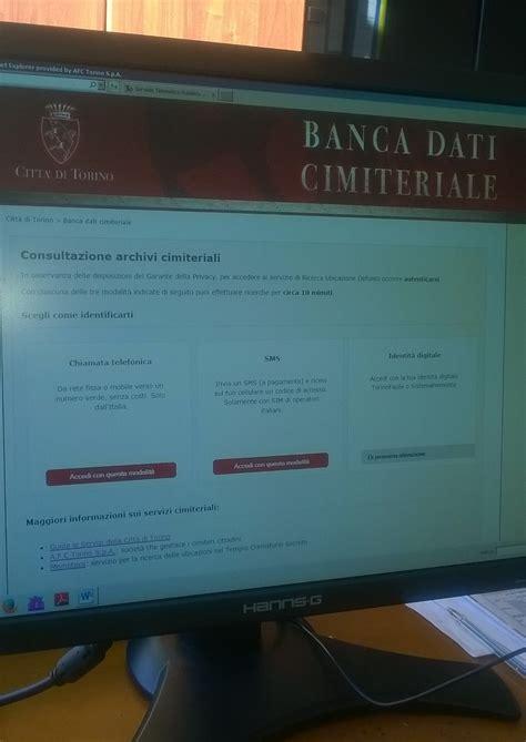 dati cimiteriale torino ricerca defunto torna in rete il servizio di