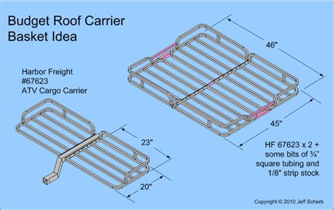 Roof Rack Plans by Budget Roof Rack Basket Expedition Portal
