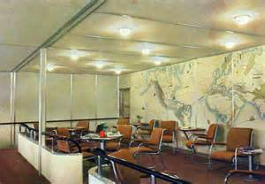 the interior of the hindenburg revealed in 1930s color