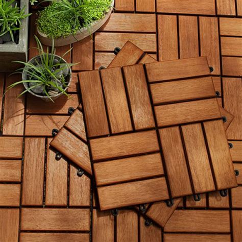 Koka Set koka fl茘zes teras苴m wood tile 4 pcs set
