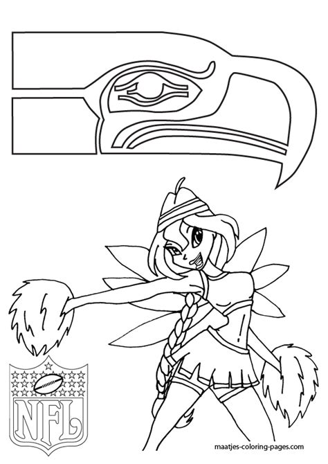 Seattle Seahawk Free Coloring Pages Seahawks Color Pages