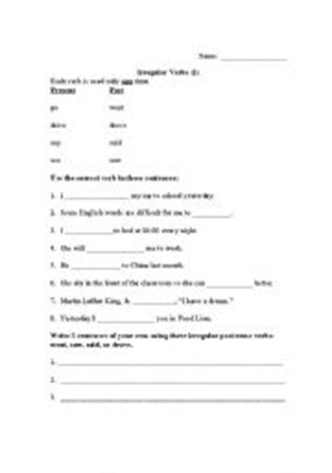 drive past tense english teaching worksheets past tense